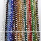 1 Strand 10mm Faceted Twist Crystal Glass Loose Bead Bracelet Making Finding DIY