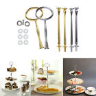 2/3 Tier Round Cake Fruit Plates Stand Handle Fittings Hardware Wedding Party