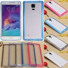 Hybrid Hard Acrylic + Soft TPU Bumper Cover Case For Samsung Galaxy Note 4 N9100