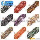 """Natural Stone Oval Loose Beads Strands 15"""" Jewelry Making 16 Materials 10x14mm"""