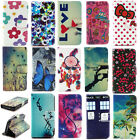PU Wallet Card Case Holder Fold Flip Stand Cover Pouch For Apple iPhone 4 5 6