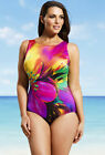 LONGITUDE Plus Size Pink Fiesta High Neck Swimsuit, *NWT $99