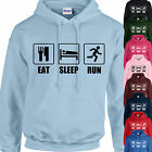 EAT, SLEEP, RUN HOODIE ADULT/KIDS - PERSONALISED - TOP RUNNING JOG GIFT XMAS