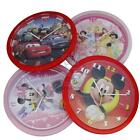 Disney Wall Clock 25cm Round 4 Characters Cars Mickey Minnie Princess Kids Room