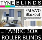 The FABRIC BOX - PALAZZO BLACKOUT made to measure ROLLER BLINDS - straight edge