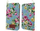 "BONAMART PU Leather Wallet Case Card Slot Stand for iPhone 6 Plus 5.5"" Flower"