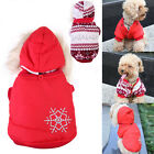 Good Warm Winter Small Dog Pet Clothes Apparel Outercoat Snowflake Hoodie Coat
