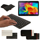 Slim Wireless Bluetooth UK Keyboard with Case for Samsung Galaxy Tab 4 10.1