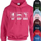 EAT, SLEEP, DANCE HOODIE ADULT/KIDS - PERSONALISED - TOP GIFT DANCING