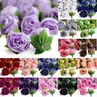 50pcs Fake DIY Small Tea Bud Silk Beautiful Clips Bridal Wedding Flower Heads