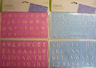 2 x Pink or Blue Letters, Numbers, Maths Symbols Stencils & Rulers Set Free Post