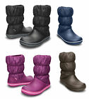 New Womens Crocs Winter Puff Warm Lined Winter Snow Soft Fashion Boots Size 3-9