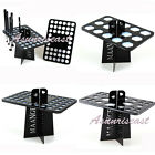 Makeup Folding Collapsible Air Drying Makeup Brush Organizing Rack  Holder Black