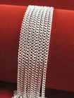 "Wholesale Lots 5pcs Sterling Silver 1.4mm Rolo Curb Chain Necklace 16"" -30"" Hot"