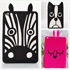 3D Cartoon Dog Zebra Rabbit Silicone Ruber Soft Case Cover For ipad mini 1 2 3