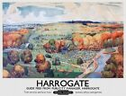 TX364 Vintage Harrogate Yorkshire British Travel Railway Poster Print A2/A3/A4