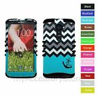 For Verizon LG G2 Anchor Chevron Design Hybrid Rugged Impact Phone Case Cover