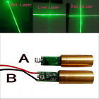 New 350mA Dot/Cross Line Laser Module with Driver Spring/Wire 50mW 12mm Green
