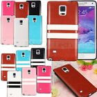 Soft※PU Leather+TPU Silicone Gel※Cover Case Skin For Samsung Galaxy Note 4 N9100