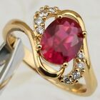 Size 6 7 8 9 Classy Hot Nice Ruby Red Gems Yellow Gold Filled Gift Ring R1909