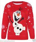 Ladies Novelty Olaf Frozen Christmas Jumper Sweater Top Xmas Jumpers Plus Sizes
