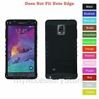 For Samsung Galaxy Note 4 Black Hard + Silicone Hybrid Rugged Impact Case Cover
