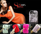 Warm real fur rex rabbit Genuine Leather Mosaic Diamond case For iphone 6/6 Plus