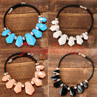 Chic Women Acrylic Geometry Beads Bib Statement Chunky Collar Necklace Hot Gift
