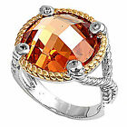4CT Yellow Topaz DESIGNER Fashion COCKTAIL .925 Sterling Silver Ring Size 6-10