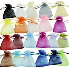 100pc Fashion Drawstring Organza Wedding Gift Jewellery Candy Pouch Bags 7X9cm