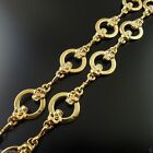 1PC Antique Gold Sliver Tone Alloy Handmade Sweater Necklace Chain