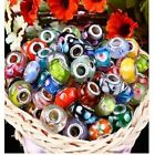 Wholesale Bulk Murano Glass Charm Spacer Beads Loose Finds Bracelet 10/50/100Pcs