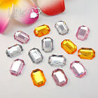 50 EMERALD Flatback Rhinestone Scrapbooking Craft DIY Favor Decoration Gift