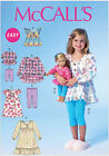 McCall's 7043 Sewing Pattern to MAKE Easy Stretch Top Dress Leggings Girl & Doll