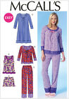 McCall's 7060 Sewing Pattern to MAKE Easy Stretch Nightdress Pyjamas Separates