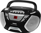 Portable Cassette Player Recorder CD Aux In Tape Music AM FM Radio Black Red New
