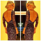 Women's Long Lace Prom Formal Evening Party Gown Bridesmaid Maxi Lined Dresses