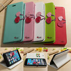 Cherry Magnetic Filp PU Leather Wallet Card Stand Case For iPhone 6 Plus 5.5''