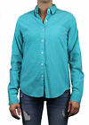 STEVEN ALAN Solid Teal Reverse Seam Button Down Shirt WST03GM NWT $138