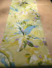 1 TABLE RUNNER-made in BORNEO col tropical large leaf -fully lined  wedding