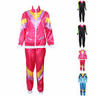 80s Scouser Shell Suit Fancy Dress Mens Ladies Tracksuit Costume Bob / Afro Wigs