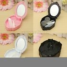 Rose Contact Lens Case Carving Travel Holder Beauty Cleaning Box Container Soak
