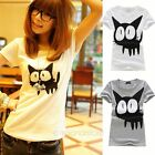 Fashion Women's Cute Casual Short Sleeve Blouse Shirt T-shirt Summer Tops Tee