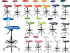 DRAFTING STOOL Swivel Tractor Seat Chrome ADJUSTABLE Bar Stool