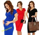 New Maternity Women's Ladies Pregnant Dress Short Sleeve V-Neck Dress Hot Sale