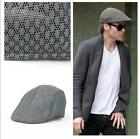 New Mens Breathable Mesh Opening Outdoors Golf Baker Racing Hat Flat Caps 1pcs W