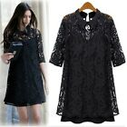 Long Top Womens 3/4 Sleeve one piece elegant Vintage Ladies Dress AU sz 6-18
