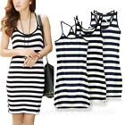 Slip Summer Basic Korea Tank Sexy Womens Stretchy Dress sz 10