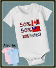 50 Canadian 50 Taiwan 100 Awesome BABY BODYSUIT FLAG COUNTRY Canada