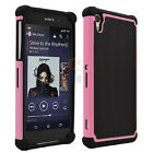 PC Shockproof Hybrid Rugged Rubber Matte Hard Skin Case Cover For Sony Xperia Z2
